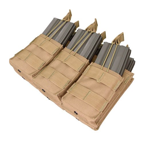Triple Stacker M4 Magazine Pouch (Hold 6 Mags) Color: Coyote Tan, Outdoor Stuffs