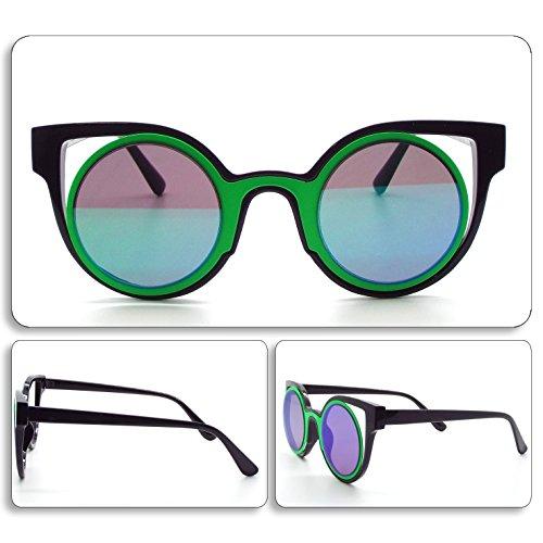 vert Soleil Homme De Art See Vision Femme Lunettes Sunglasses 087 Unisexe Noir wqtnXpUz