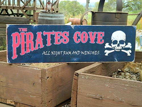 (Man Cave Country Primitive Distressed Wood Print Sign 7.25