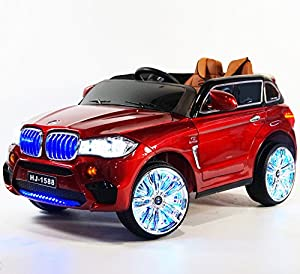 Red BMW X5 12V Ride-on Car for Kids 2-5 Years of Age with Remote Control BJ1588