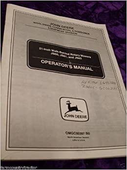 John Deere Js60 Js61 Js63 21 Mowers Oem Oem Owners Manual John