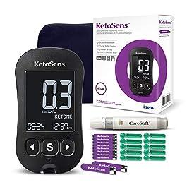 KetoSens Blood Ketone Monitoring Starter Kit – Ideal for Keto Diet. Includes Meter, 10 Test Strips, 10 Lancets, Lancing…