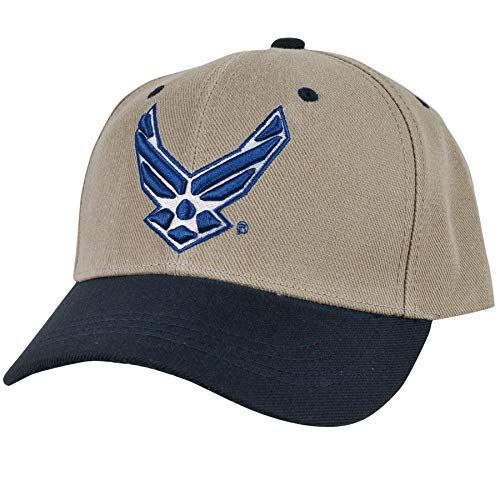 Rapid Dom Two Tone Grey Workout Military Branch Logo Baseball Caps S015 Air Force Wing