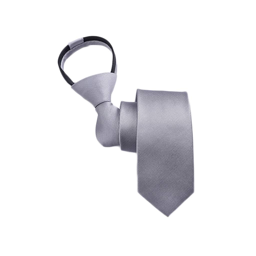 Color : C Zyj stores-Necktie Tie Male Han Narrow Version Student Dress Business Lazy Zipper Tie