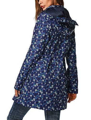 ZEGOLO Raincoats Waterproof Lightweight Rain Jacket Active Outdoor Hooded Women's Coats