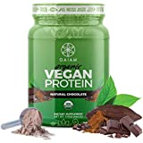 GAIAM Organic Vegan Pea Protein Isolate Powder (USDA Organic, Zero Sugar, Dairy Free, 18g Protein) - Natural Chocolate, 1lb Jar