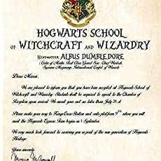 personalized harry potter acceptance letter hogwarts school of witchcraft