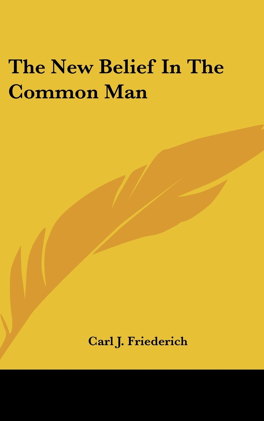 The New Belief In The Common Man PDF ePub book