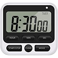 Kitchen Timer, Digital Kitchen Countdown Stopwatch Timer with Loud Alarm, Back Stand for Cooking, Classroom, Kitchen…
