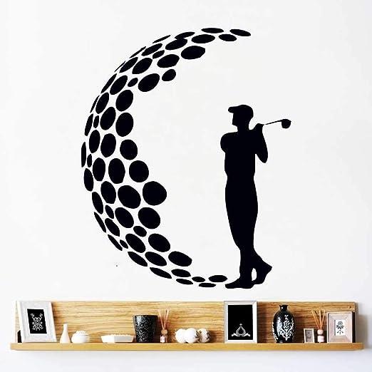 ONETOTOP Etiquetas de la Pared del Jugador de Golf extraíble Arte ...