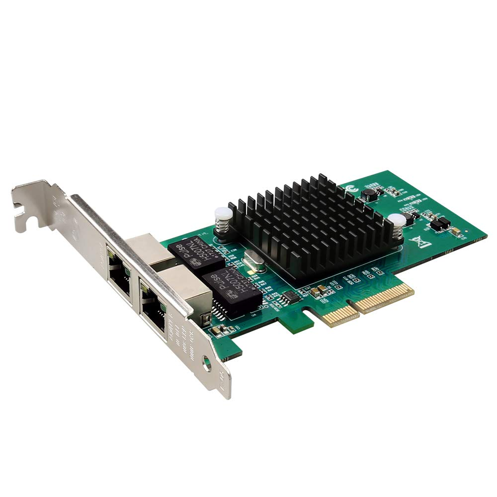 DIEWU Official Dual Port PCI Express PCIe x4 Gigabit Ethernet Server Adapter Intel i350M2 Convergence ros Pxe Transmission Rate 10/100/1000Mbps
