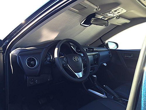 The Original Windshield Sun Shade, Custom-Fit for Toyota Corolla Sedan w/Sensor 2017, 2018, 2019, Silver Series ()