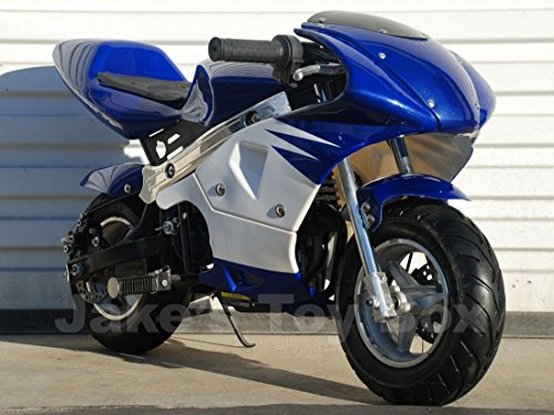 40cc Gas Powered Kids Mini Pocket Bike (Blue) ()