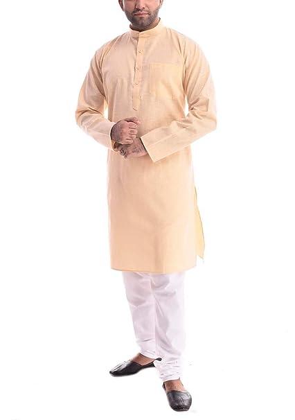 97a964fd46 Amazon.com: Royal Men Cotton Khadi Kurta Pyjama: Clothing