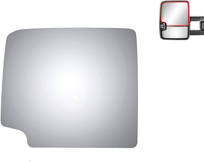 WLLW Mirror Glass Replacement for CHEVY GMC 1992s 2000s Truck Passenger Side