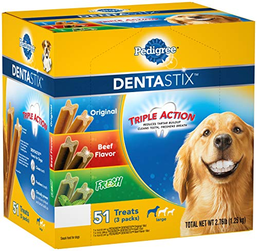 Pedigree Dentastix 51-Treat Variety Pack, 2.76Lbs (1.25 Kg) Large
