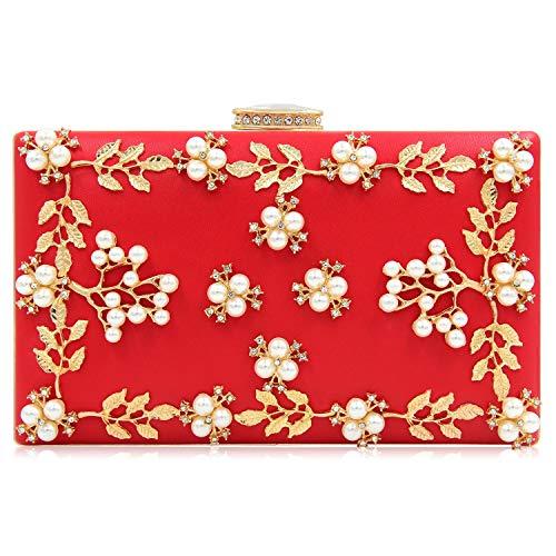 Party Handbag Clutch Bridal Crossbody Wallet Superw Evening Purse Wedding Handbag Prom Women's Noble Bag Red Bag Bags txxqzvf0