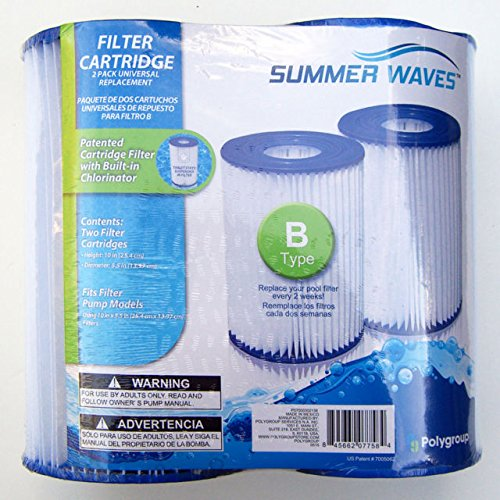 Summer Waves/Polygroup 2 pack filter cartridge type B - universal replacements