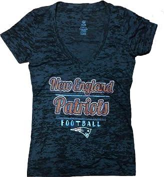 best authentic ccaa5 b0a3f Amazon.com: NFL Team Apparel New England Patriots Womens V ...
