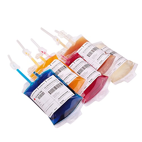 Halloween Party Cups, Blood Bag for Drinks Reusable,10 Halloween Liquid Bag with Sryinges and Needles for Halloween Favors, Nurse Decorations and Kids Halloween By (Drink Halloween Party)