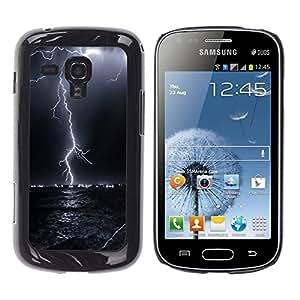 Design for Girls Plastic Cover Case FOR Samsung Galaxy S Duos S7562 Thunder Lightning Storm Sky Black Night OBBA