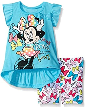 Baby Girls' Minnie Mouse Bike Short Set with Top