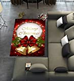 Custom Merry Christmas Area Rugs Carpet,Merry Christmas Modern Carpet Floor Rugs Mat for Home Living Dining Room Playroom Decoration Size 5'x3'3″ Review