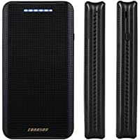 CONNSON 16000mAh Quick Charge 2.0 Power Bank External Battery Pack, Dual USB Portable Charger, 5V 9V 12V Output and Input for Phones Tablets - Black