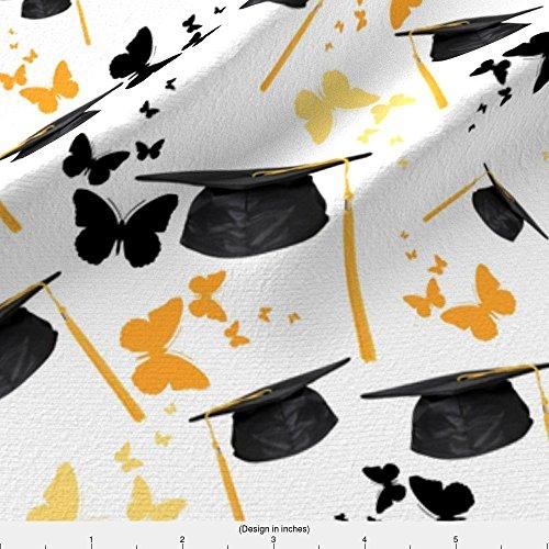 Graduation Fabric Graduation Cap by Bluevelvet Printed on Kona Cotton Ultra Fabric by the Yard by - Kona Caps