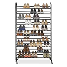 Whitmor Supreme 50 Pair Shoe Rack - Black