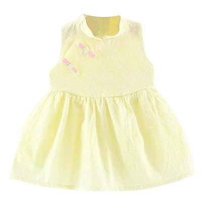 ☀Robe de princesse de regard,Mounter Enfants bébé filles [style ethnique] jupe sans manches 6-24Mois, Manches courtes