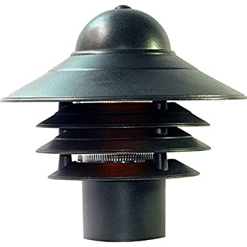 Acclaim 87BK Mariner Collection 1-Light Post Mount Outdoor Light Fixture, Matte Black