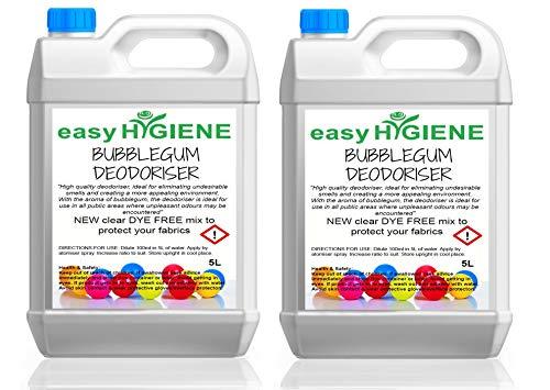 10L Strong Dye Free Bubblegum DEODORISER Air Freshener Odour Stop for Carpets, Pets, Cars Valeting