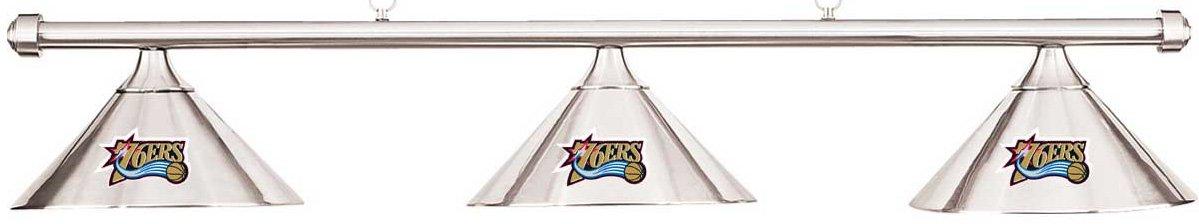 Imperial NBA Philadelphia Sixersクロムシェード&クロムバービリヤードプールテーブルライト B01LYNXQVA