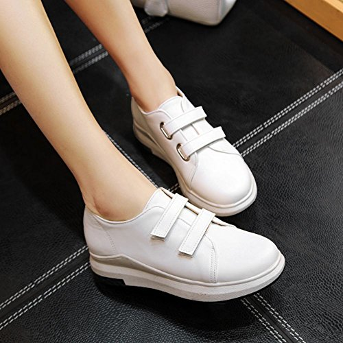 Charm Foot Womens Comfort Hook And Loop Solid Color Casual Shoes White PBD3AGX