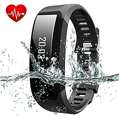 New Release Heart Rate Monitor PADGENE reg Smart Fitness Activity Tracker Bracelet H28 Plus with Pedometer Step Counter Calories Burning Sleep Monitor SMS Reminder Healthy Smartband Sync with Android 4 4 Above and Ios Smartphone Estimated Price £19.99 -