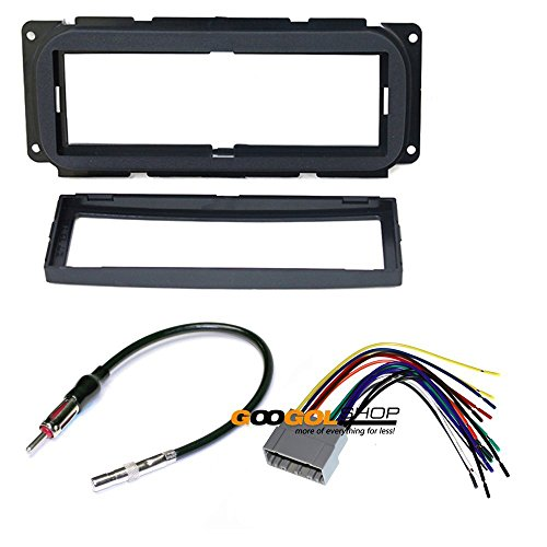 - CAR STEREO DASH INSTALL MOUNTING KIT WIRE HARNESS FOR CHRYSLER JEEP DODGE
