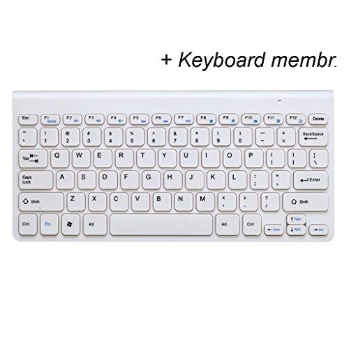 Zhengfangfang Wireless Keyboard For Windows 10/8/7/Vista/XP And Android Smart TVs, Long Battery Life, UK Keyboard Layout And Whisper Mute Keyboard Design (Color : Wireless keyboard white) -