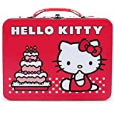 Hello Kitty Birthday Cake Embossed Metal Lunch Box