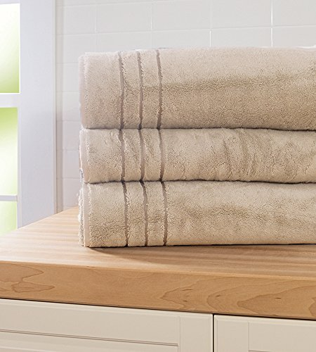 Cariloha Bamboo Bath Sheet by Highly Absorbent – Odor Resistant – Moisture Wicking (Beachwood)