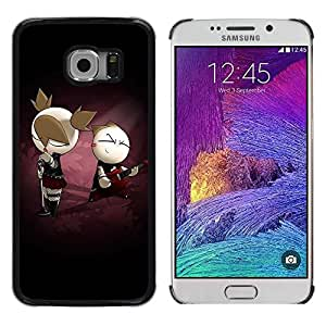 Smartphone Rígido Protección única Imagen Carcasa Funda Tapa Skin Case Para Samsung Galaxy S6 EDGE SM-G925 Cute Punk Couple / STRONG