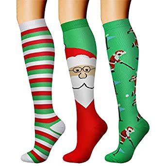 CHARMKING Compression Socks (3 Pairs) 15-20 mmHg is Best Athletic & Medical for Men & Women, Running, Flight, Travel, Nurses, Edema - Boost Performance, Blood Circulation & Recovery (S/M, Assorted 33)