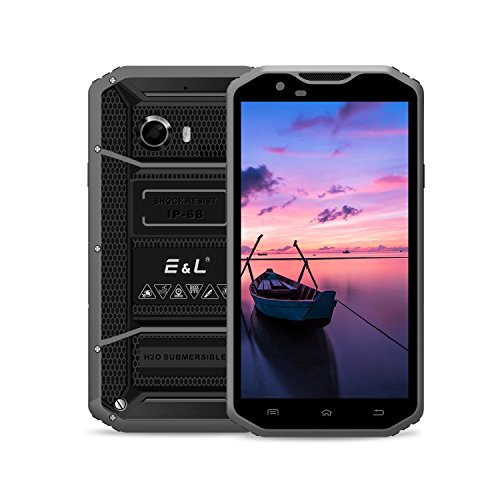 EL W8 4G LTE Rugged Smartphone Unlocked IP68 Wateproof Dustproof Shockproof 5.5 Inch 16GB/2GB Android 6.0 Camera 8.0MP Unlocked Military Grade GSM Cellphone (Hot De Li Display System)