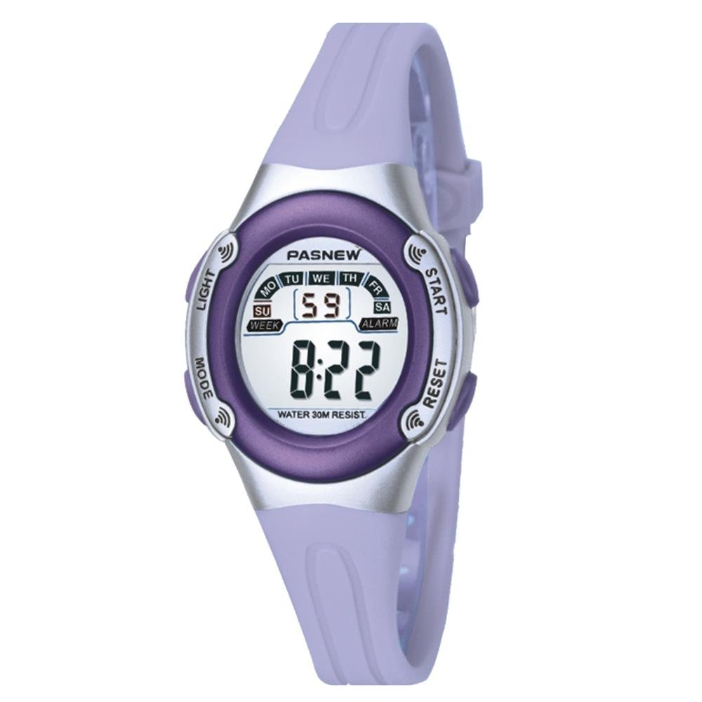 Casual Waterproof Children Girls Digital Sport Watches with Alarm, Chronograph, Date (Purple) by Jewtme