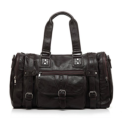 bolsa de hombre de ocio polivalente/Versión coreana de la bolsa de viaje de negocios/Bandolera diagonal sola/Bolso de cuero suave a granel de los hombres-B A