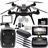 3DR Solo Quadcopter (No Gimbal) with Manufacturer Accessories + 2 3DR Propeller Sets + 3DR Solo Backpack + 32GB microSD Memory Card + Microfiber Cleaning Cloth
