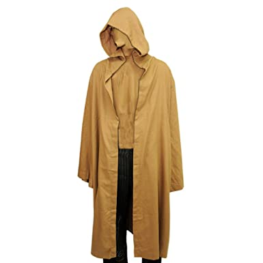 ba26278383 Amazon.com  Light Brown Robe Jedi Cloak OBI Anakin Costume Star Wars   Clothing
