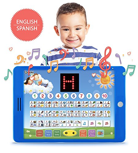 Spanish-English Tablet Bilingual Educational Toy with LCD Sc