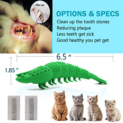 Adusa Interactive Cat Toys Catnip Toys Cat Toothbrush Chew Toys,100% Natural Rubber Bite Resistance Catnip Cat Treat Toys,Crayfish Shape Cats Teeth Cleaning Dental Care toys 4