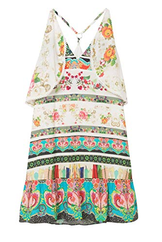 Dress Desigual Woman Viscose White 18swvw92white nYngTUxPq